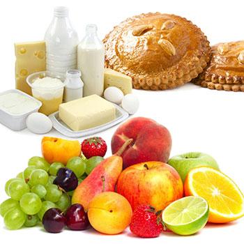 Fruit, zuivel en zoetigheid